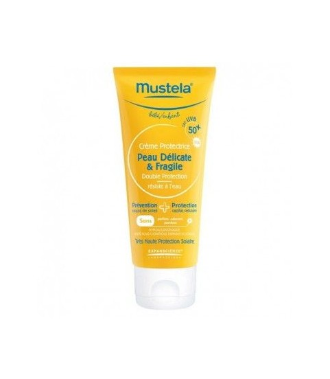 Mustela Creme Solaire Protectrice SPF 50+ Peau Délicate 75 ml