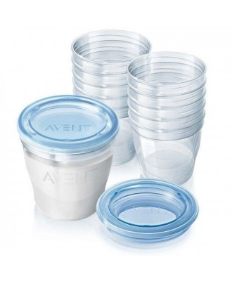 AVENT VIA SYSTEME DE CONSERVATION LAIT ET PUREE 240ML-10 PIECES  SCF616/10