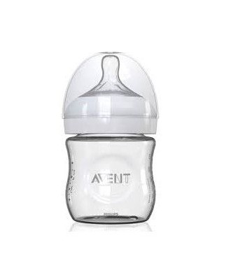 AVENT NATURAL GLASS BABY BOTTLE 120ML SCF671/17