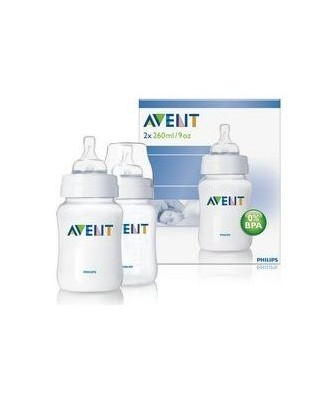 AVENT CLASSIC BABY BOTTLE 260ML - 2 PACK SCF683/62