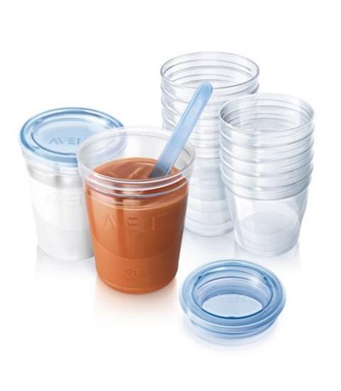 AVENT VIA Breast Milk Containers SCF612/10