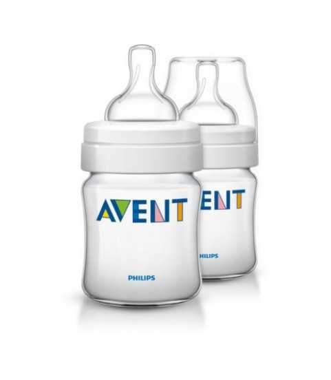 AVENT BIBERON CLASSIC 125ML LOT DE 2 SCF680/62
