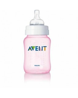 AVENT BABY CLASSIC BABY BOTTLE PINK 260 ml SCF684/62