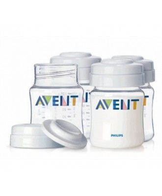 AVENT PRESERVATION POTS FOR MATERNAL MILK 125ML SET OF 4 SCF640 / 04