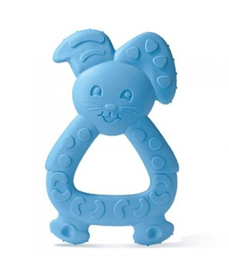 Dodie Teething Ring Blue Rabbit