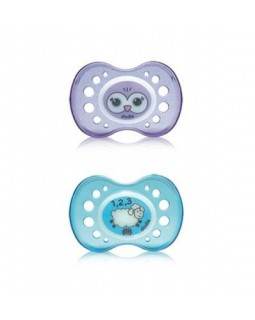 Dodie Anatomic Pacifier +18 Silicone Night Duo A2