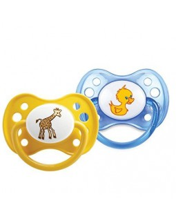 Dodie Anatomical Pacifier 0-2 Silicone Animals 27