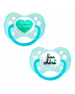 Dodie Anatomical Pacifier 0-2 Silicone Duo Day A31
